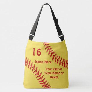 As bolsas feitas sob encomenda do softball com