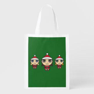 As bolsas reusáveis do personagem de desenho sacola reusável