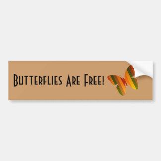 As borboletas estão livres! adesivo