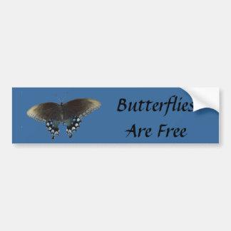 As borboletas estão livres adesivo para carro