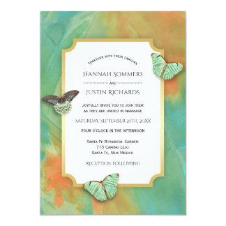 As borboletas no sudoeste colorem o casamento convite 12.7 x 17.78cm