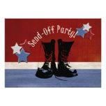 As botas do exército Enviam-Fora o partido Convites Personalizados