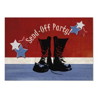 As botas do exército Enviam-Fora o partido Convite 12.7 X 17.78cm