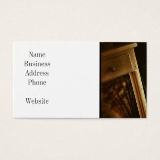 As caixas empilhadas rústicas das caixas de cartão de visitas