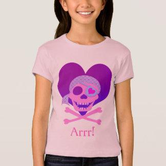As camisas dos miúdos cor-de-rosa do coração do