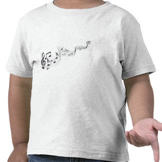 As camisetas da criança da nota musical