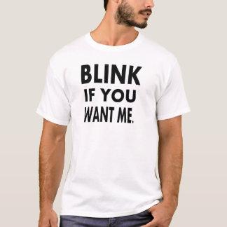 as camisetas engraçadas piscam se você me quer