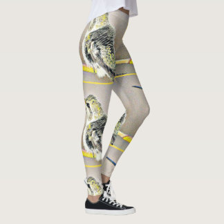 As caneleiras das mulheres amarelas de Hummer Leggings