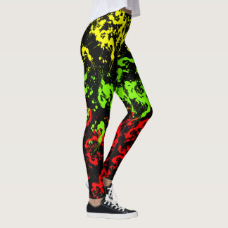 As caneleiras das mulheres do Splatter da pintura Leggings