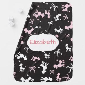 As caniches bonito personalizam manta de bebe