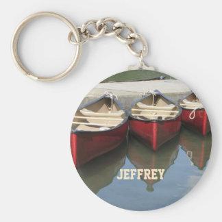 As canoas vermelhas personalizaram o chaveiro (a