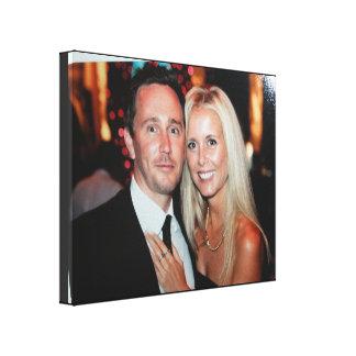 As canvas da foto do casamento criam seus próprios impressão em tela