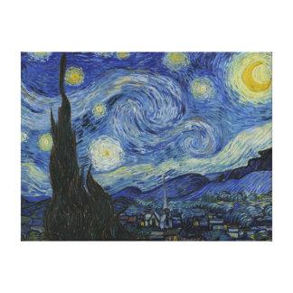 As canvas da noite estrelado