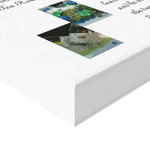As canvas do casamento impressão de canvas esticada