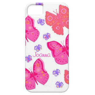 As capas de iphone cor-de-rosa das borboletas capa barely there para iPhone 5