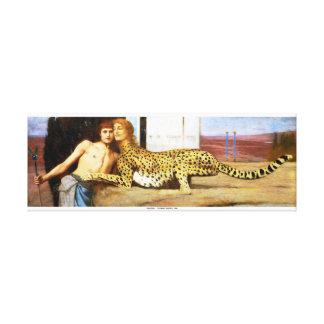 As carícias - Fernand Khnopff 1896 Impressão De Canvas Envolvidas