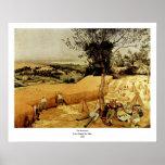 As ceifeira de Pieter Bruegel (1565) Poster