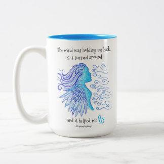 As citações da caneca de café o vento ajudaram-me