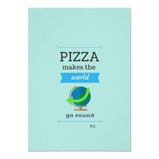 As citações da pizza convidam convite 12.7 x 17.78cm