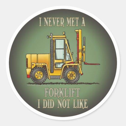 As citações do operador de caminhão da adesivos em formato redondos