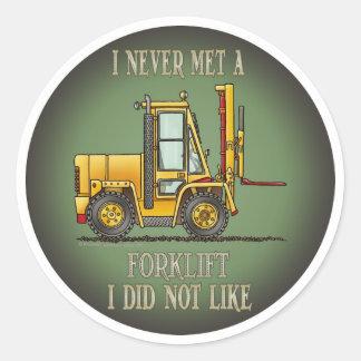 As citações do operador de caminhão da empilhadeir adesivos