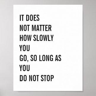 As citações inspiradores Confucius famoso citam 8x Poster