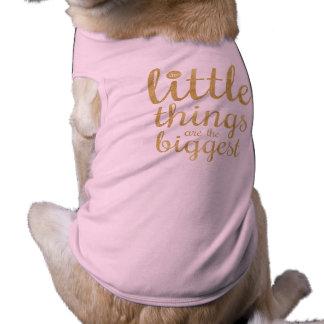 As coisas pequenas são a camisa a mais grande do camisa sem mangas para cachorro