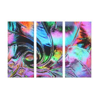 As cores brilhantes Scape de vidro/esticaram a art Impressão Em Tela