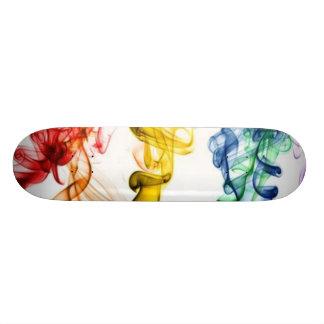 As cores de fumo shape de skate 18,4cm