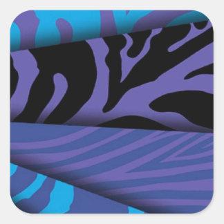 As cores diferentes do impressão da zebra adesivo quadrado