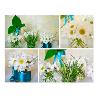 As cores do primavera, cartão das flores brancas