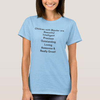 As crianças bipolares são camisa de t