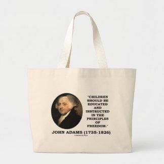 As crianças de John Adams instruíram a liberdade Sacola Tote Jumbo