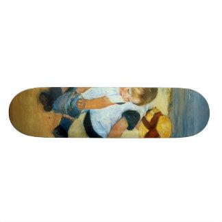As crianças de Mary Cassatt na praia (1884) Skateboard