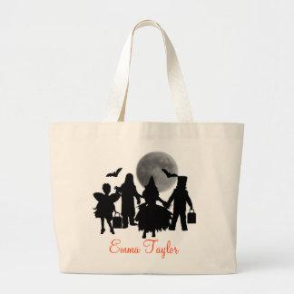 As crianças do saco do Dia das Bruxas Sacola Tote Jumbo