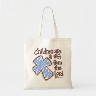 """As """"crianças são um presente do 127:3 do senhor"""" s bolsa tote"""