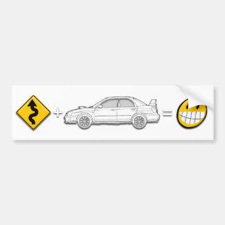 As curvas, Subaru, igualam o autocolante no vidro  Adesivo Para Carro