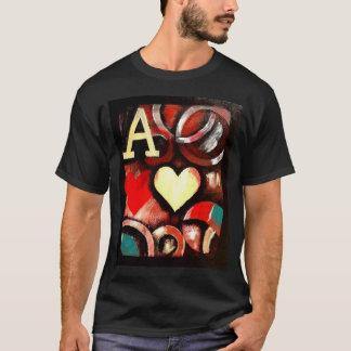 Ás da camisa do póquer T do estilo dos grafites de