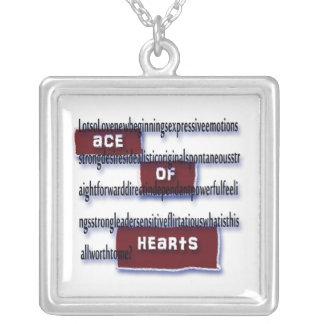 Ás de corações que significam a colar