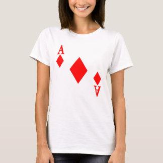 Ás de diamantes camiseta