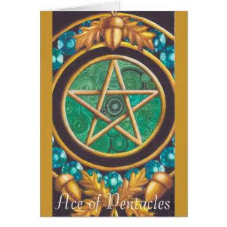 Ás do cartão dos Pentacles