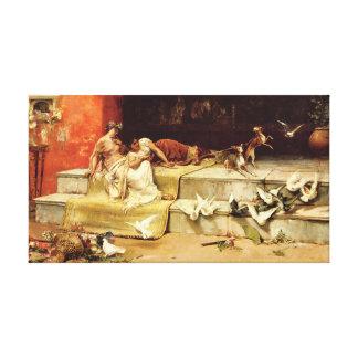 As donzelas romanas por Juan Luna. Impressão Em Canvas