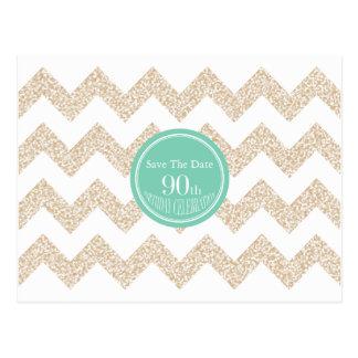 as economias da festa de aniversário do 90 a data cartão postal