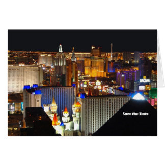As economias de Las Vegas o cartão de data,