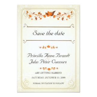 As economias do convite do casamento a data, queda