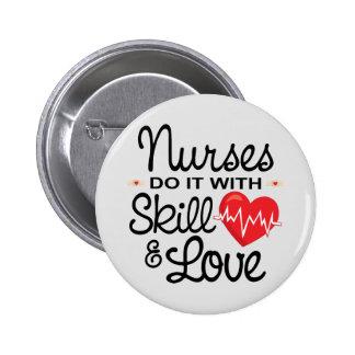 As enfermeiras engraçadas fazem-no com habilidade bóton redondo 5.08cm