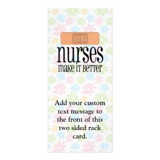 As enfermeiras fazem-no melhor, atadura panfletos informativos personalizados