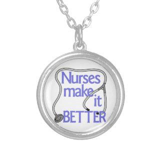 As enfermeiras fazem-no melhor colar com pendente redondo