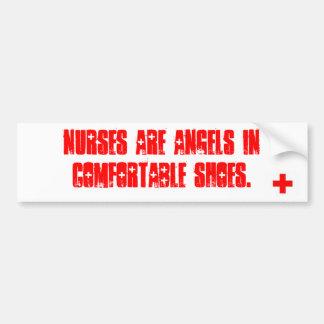 As enfermeiras são anjos em sapatas confortáveis adesivo para carro