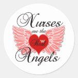 As enfermeiras são os anjos reais adesivo